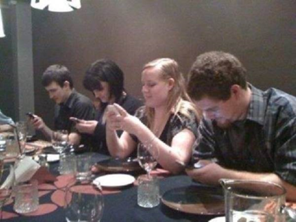 Having dinner with your friends