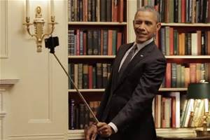 Obama selfie two