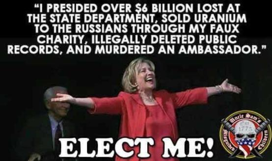 Hillary Blob! RUN!