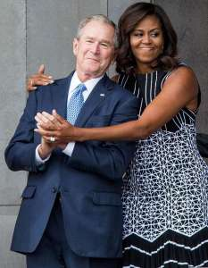 bush-and-michelle
